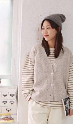 Pretzel knit vest -2Color