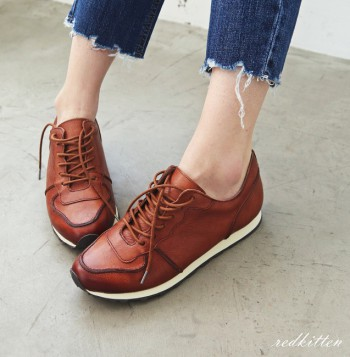 Fashionable leather shoes