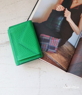 Triangular Mini Leather Wallet - Cowhide