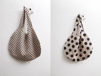 Linen dot bag