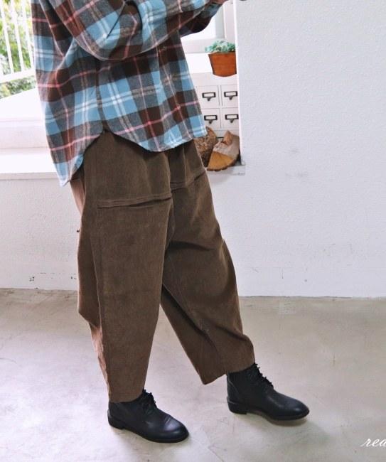 Cotton color golden pants-2color