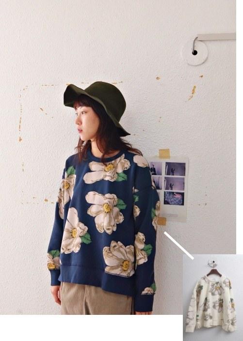 Flower kimono-2color