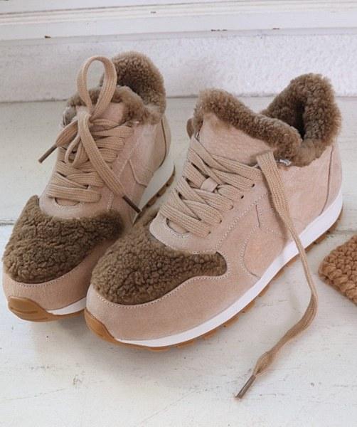 Cowhide Fleece Sneakers