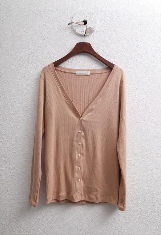 Sale-macaroon corrugated cardigan 37800-> 22000