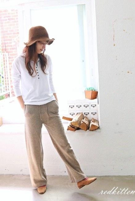 Sale-Wool Knit Pants-2Color-Wool70% 53800-> 37000